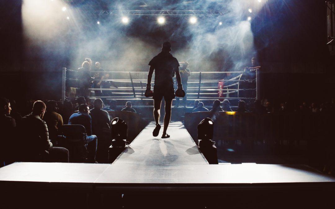 Boxeur qui entre sur le ring